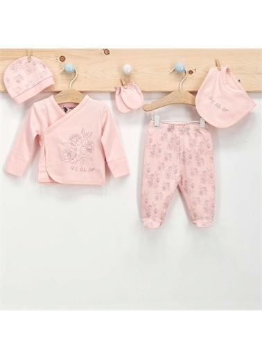 U.S. Polo Assn. U.S. Polo Assn Lisanslı 5 Li Hastane Çıkışı Kız Bebek Somon Somon